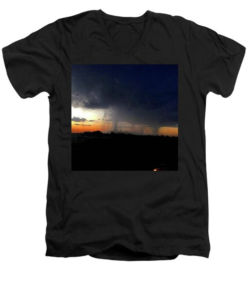 Storm Cloud Men's V-Neck T-Shirt by Speedy Birdman