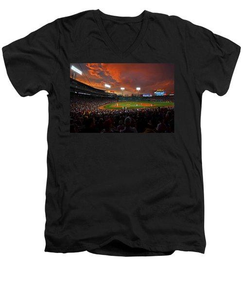 Storm Clouds Over Fenway Park Men's V-Neck T-Shirt