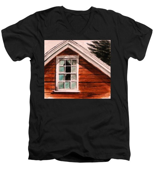 Men's V-Neck T-Shirt featuring the painting Storm Damage by John Williams