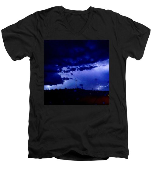 Storm On Farmer's Turnpike Men's V-Neck T-Shirt