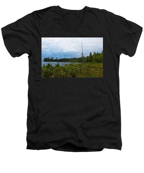 Storm On Raquette Lake Men's V-Neck T-Shirt