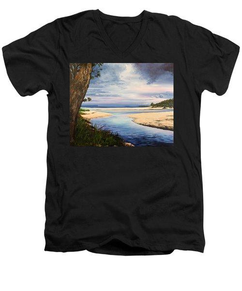 Storm Over Moona Moona Creek Men's V-Neck T-Shirt