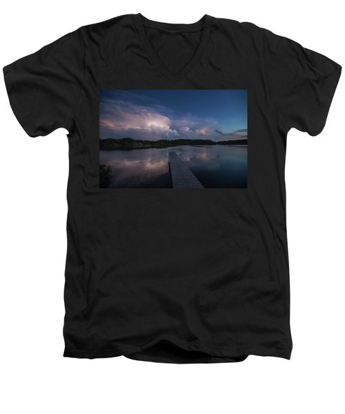 Men's V-Neck T-Shirt featuring the photograph Storm Reflection by Aaron J Groen