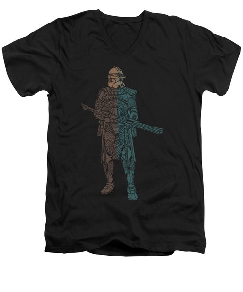 Stormtrooper Samurai - Star Wars Art - Minimal Men's V-Neck T-Shirt