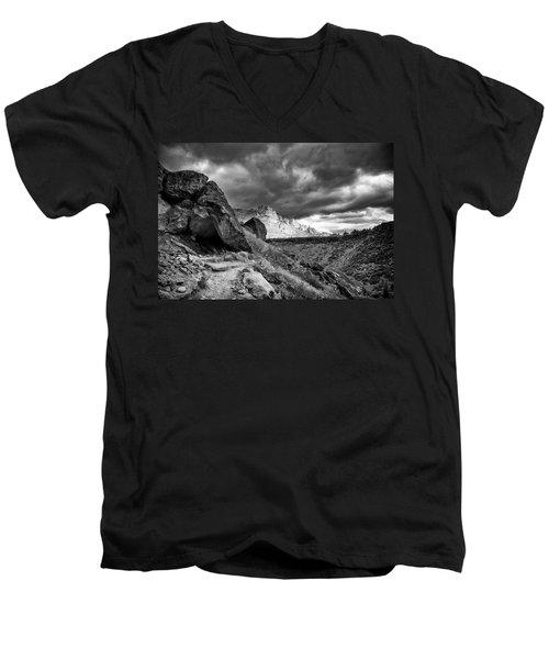 Stormy Misery Ridge  Men's V-Neck T-Shirt