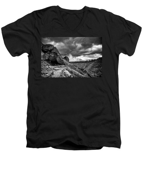 Stormy Misery Ridge  Men's V-Neck T-Shirt