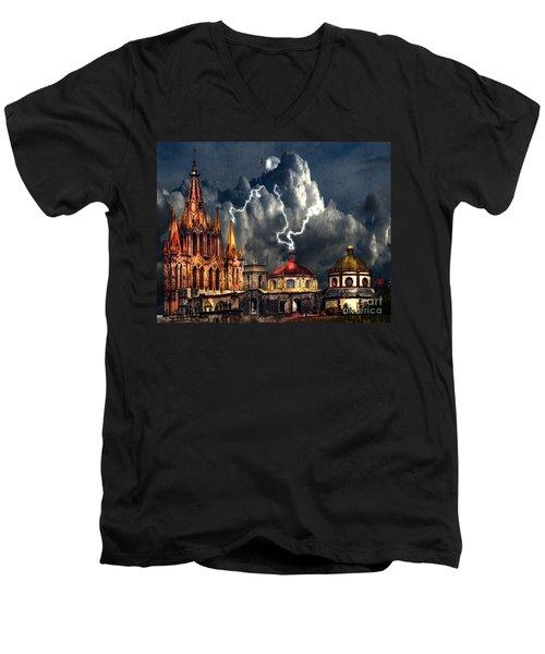 Stormy Night Men's V-Neck T-Shirt