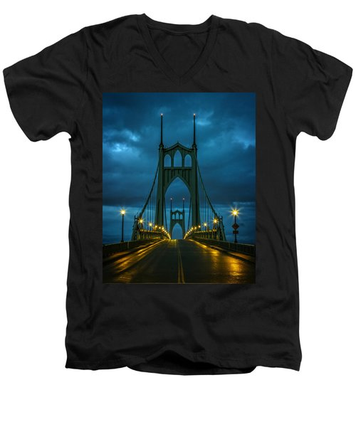 Stormy St. Johns Men's V-Neck T-Shirt by Wes and Dotty Weber