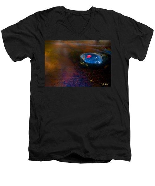 Stranded Leaf Men's V-Neck T-Shirt