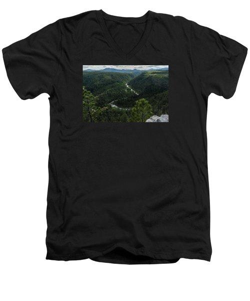 Stratobowl Overlook On Spring Creek Men's V-Neck T-Shirt