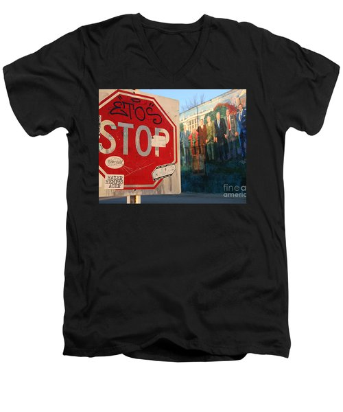 Street Art Washington D.c.  Men's V-Neck T-Shirt by Clay Cofer
