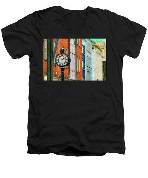Street Clock In Cork Men's V-Neck T-Shirt