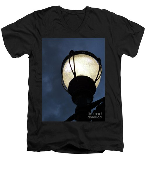 Street Lamp At Night Men's V-Neck T-Shirt