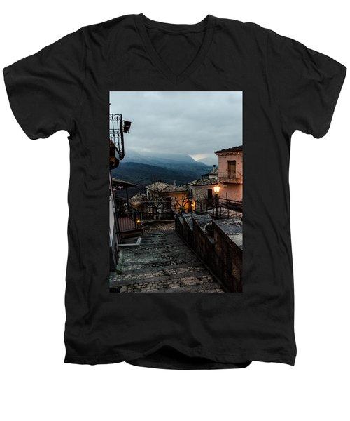 Streets Of Italy - Caramanico 3 Men's V-Neck T-Shirt