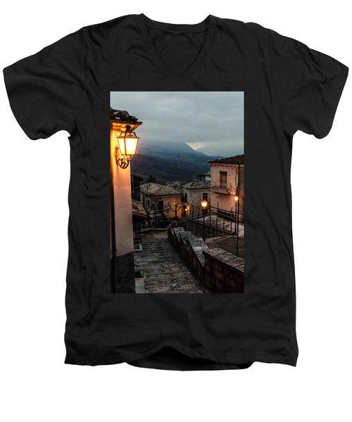 Streets Of Italy - Caramanico Men's V-Neck T-Shirt