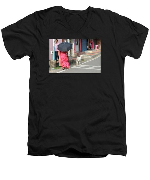 Streets Of Kochi Men's V-Neck T-Shirt