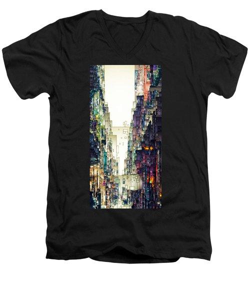 Streetscape 1 Men's V-Neck T-Shirt
