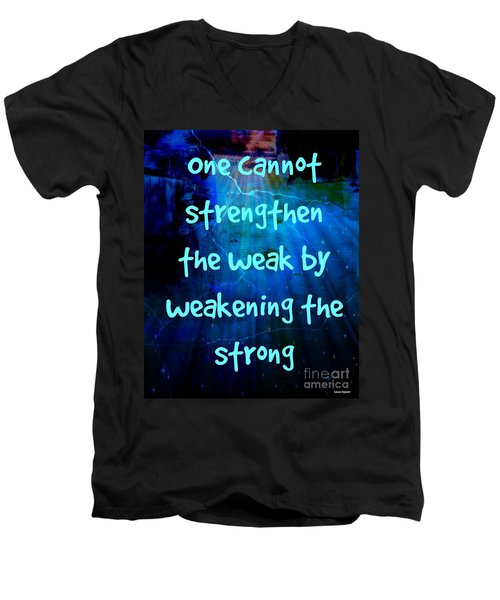 Strength V Weakness Men's V-Neck T-Shirt