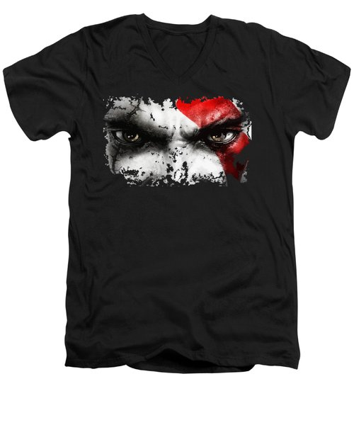 Strong Warrior Men's V-Neck T-Shirt by Opoble Opoble
