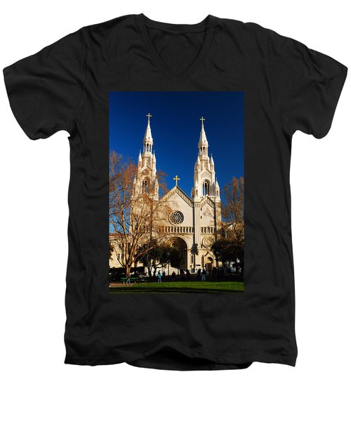 Sts Peter And Paul Men's V-Neck T-Shirt by James Kirkikis