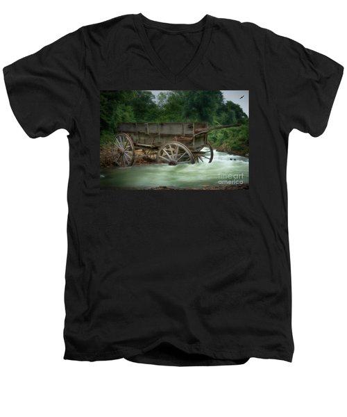 Stuck In Time Men's V-Neck T-Shirt