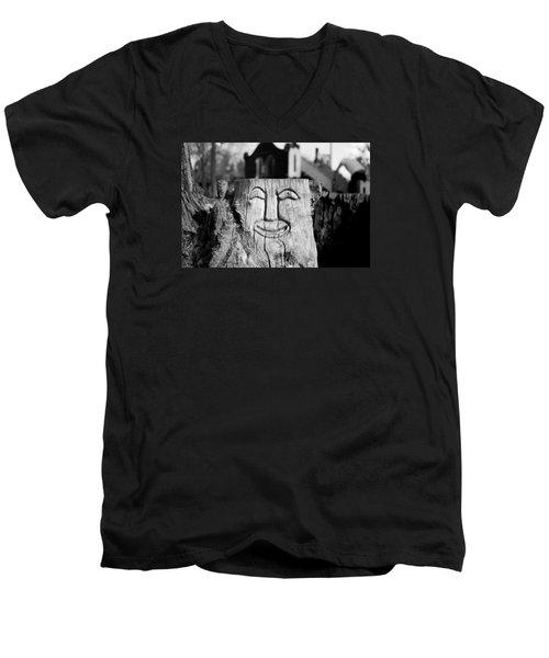 Stump Face 1 Men's V-Neck T-Shirt