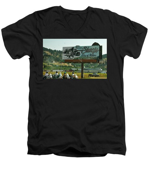 Sturgis City Of Riders Men's V-Neck T-Shirt