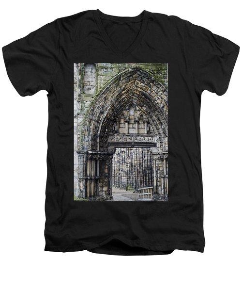 Subtle Shades Of Stone Holyrood Edinburgh Scotland Men's V-Neck T-Shirt by Sally Ross