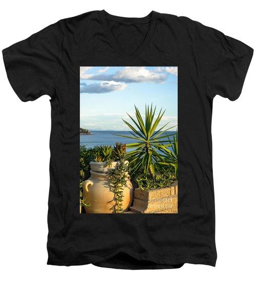 Succulents By The Sea Men's V-Neck T-Shirt
