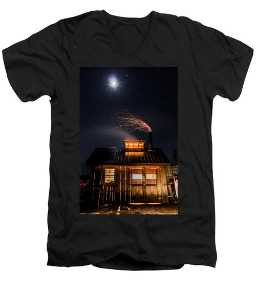 Sugar House At Night Men's V-Neck T-Shirt