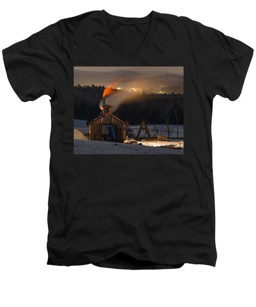 Sugaring View Men's V-Neck T-Shirt by Tim Kirchoff