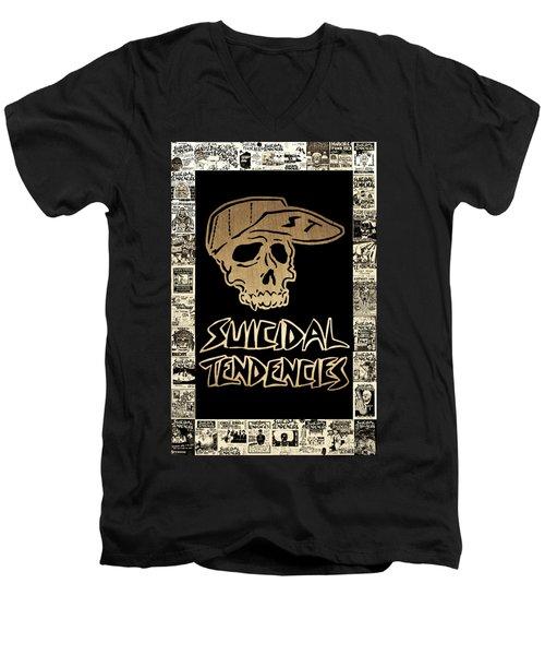 Suicidal Tendencies 2 Men's V-Neck T-Shirt by Michael Bergman