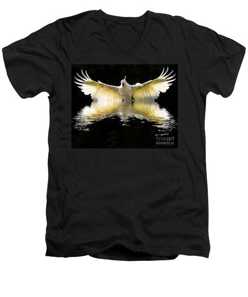 Sulphur Crested Cockatoo Rising Men's V-Neck T-Shirt