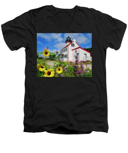 Summer At East Point Light Men's V-Neck T-Shirt