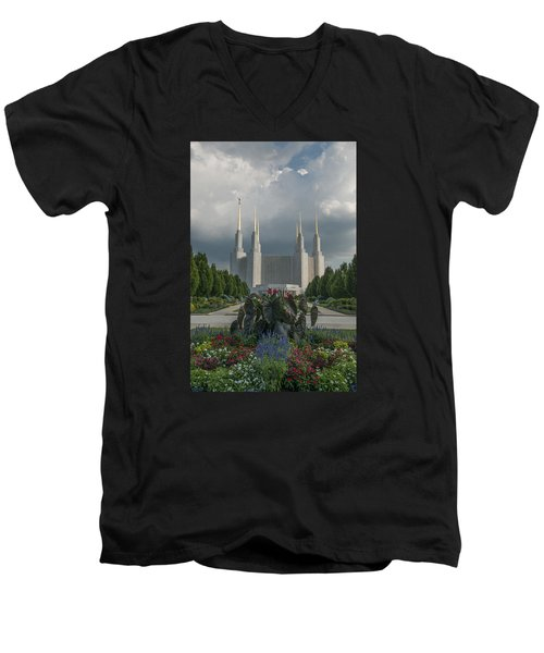 Summer Day At The Lds Men's V-Neck T-Shirt