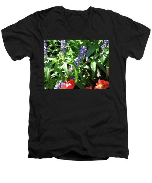Summer Flowers Men's V-Neck T-Shirt by Michele Wilson