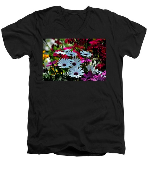 Summer Flowers Men's V-Neck T-Shirt by Robert Meanor