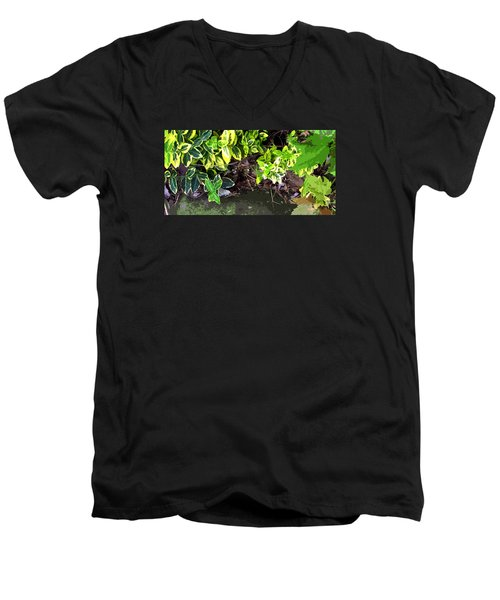 Men's V-Neck T-Shirt featuring the photograph Summer Leaves by Spyder Webb