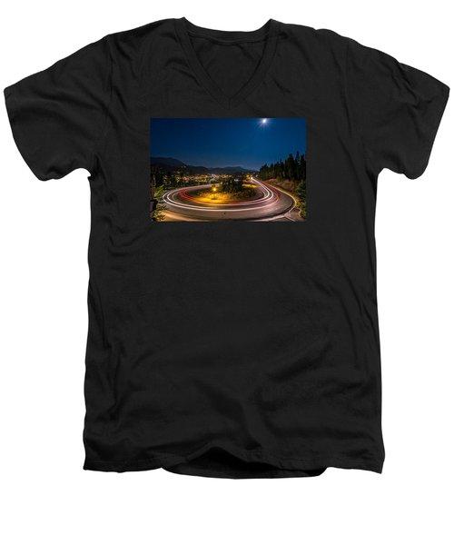 Summer Night Above Breckenridge Men's V-Neck T-Shirt