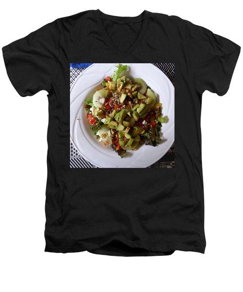 Men's V-Neck T-Shirt featuring the photograph Summer Salad by Joel Deutsch