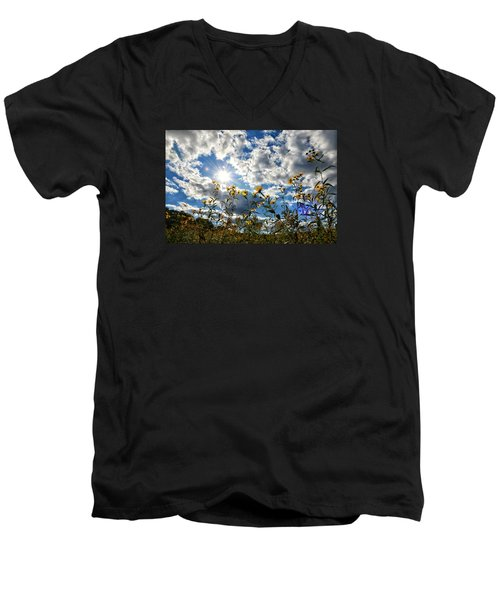Men's V-Neck T-Shirt featuring the photograph Summer Scene by Nikki McInnes