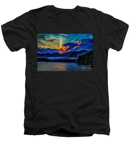 Summer Sundown Men's V-Neck T-Shirt