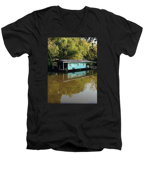Summertime Men's V-Neck T-Shirt by Helen Haw