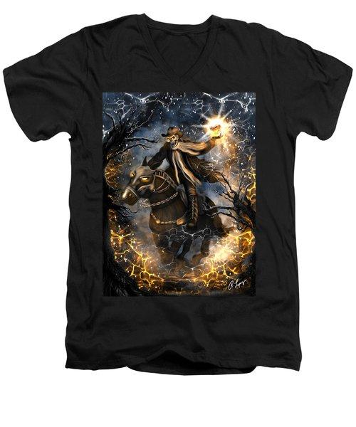 Summoned Skull Fantasy Art Men's V-Neck T-Shirt