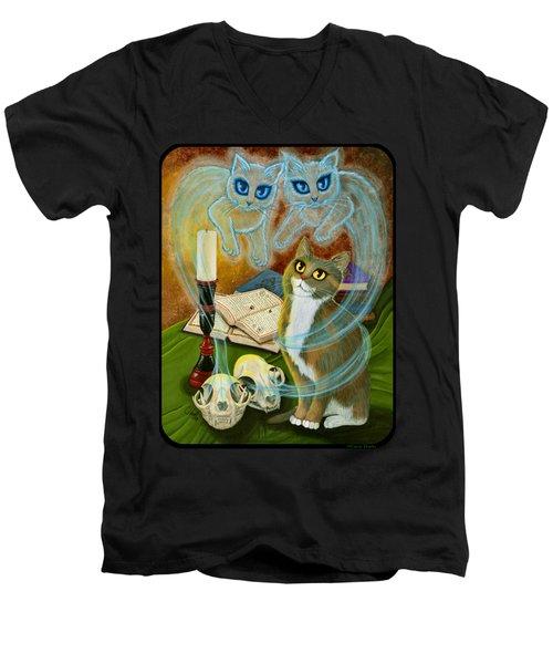 Summoning Old Friends - Ghost Cats Magic Men's V-Neck T-Shirt