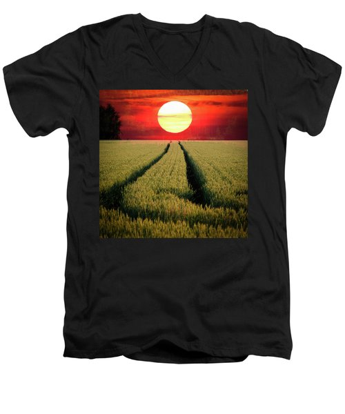 Sun Burn Men's V-Neck T-Shirt