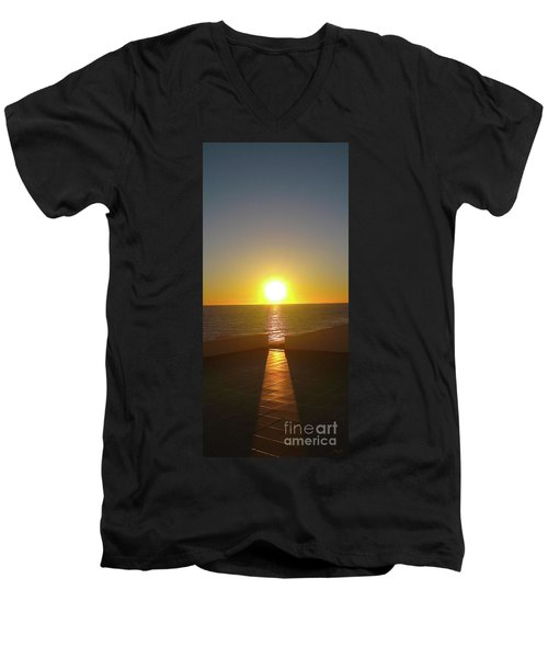Sun Gazing Men's V-Neck T-Shirt
