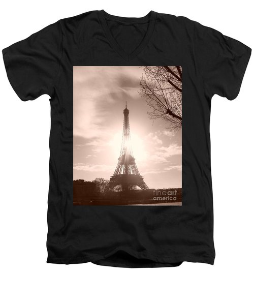 Sun In Paris Men's V-Neck T-Shirt
