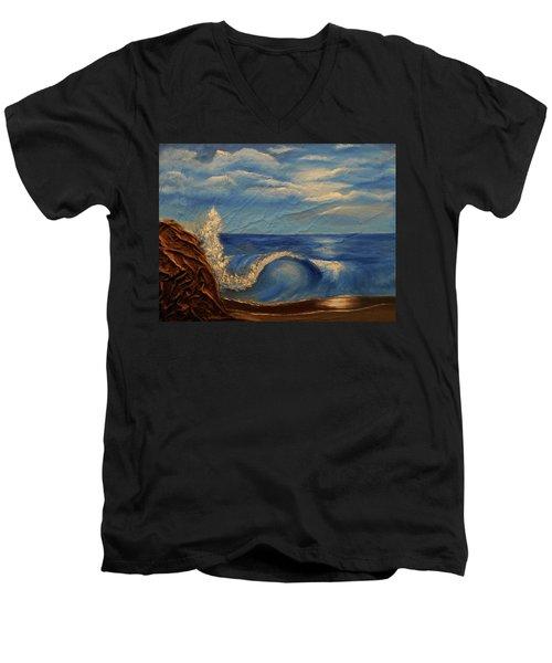 Sun Over The Ocean Men's V-Neck T-Shirt