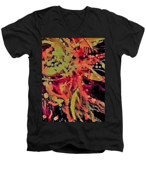 Sun Burst Iv Men's V-Neck T-Shirt